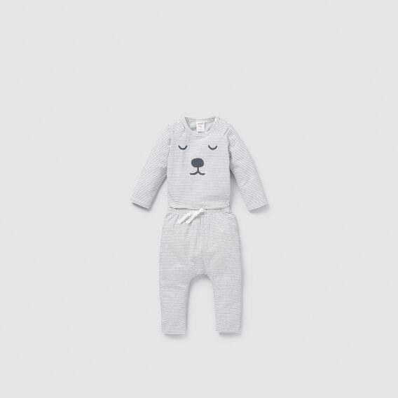 Stripe Bear Bodysuit  CHARCOAL  hi-res