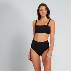 Classic High Waist Bikini  BLACK  hi-res