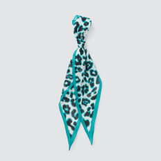 Diamond Neck Scarf  NAVY/PEACOCK GREEN  hi-res