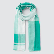 Gradient Check Scarf  PEACOCK GREEN  hi-res