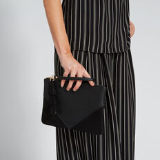 Spliced Tassel Pouch  BLACK METALLIC  hi-res
