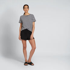 Dipped Tee  BLACK/WHITE STRIPE  hi-res
