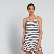 Rib Tank  BLACK STRIPE  hi-res