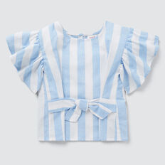 Stripe Tie Top  OCEAN BLUE  hi-res