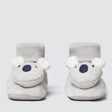 Koala Rattle Booties  GREY  hi-res