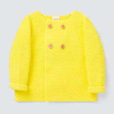 Pearl Knit Cardigan  LEMON YELLOW  hi-res