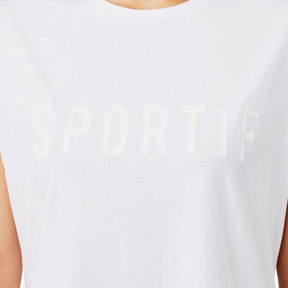 Sportif Tee  SNOW WHITE  hi-res