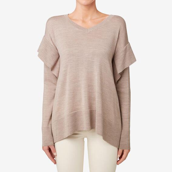 Frill V-Neck Sweater  COCOA MARLE  hi-res