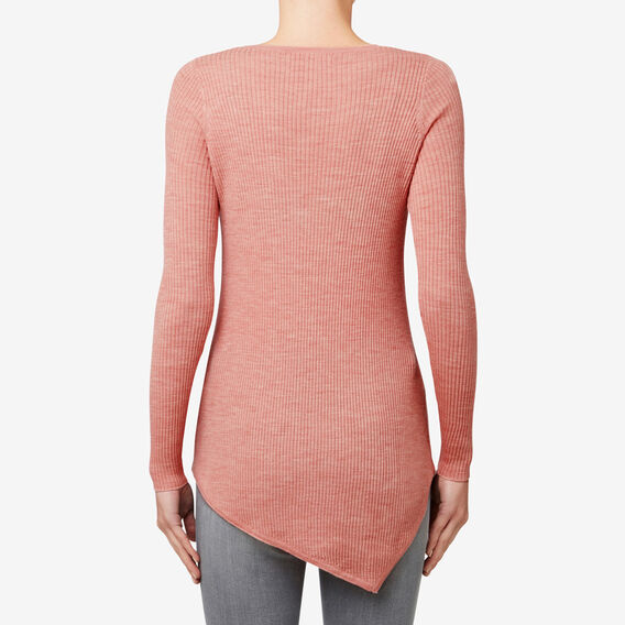 Rib Asymmetrical Sweater  SOFT BLUSH  hi-res
