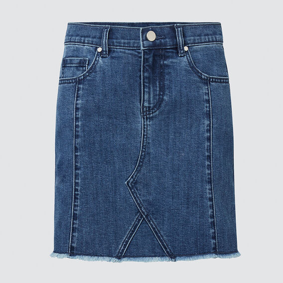 Panel Denim Skirt  DUSTY BLUE  hi-res
