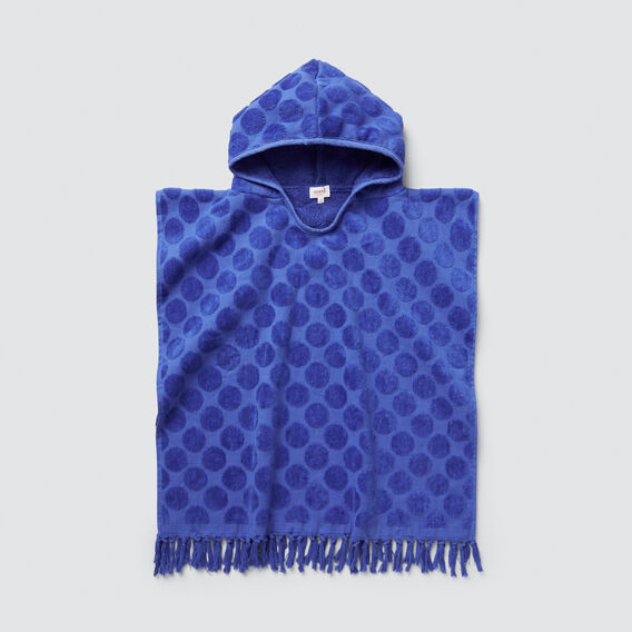 Spot Towel Poncho  BLUE BOLT  hi-res