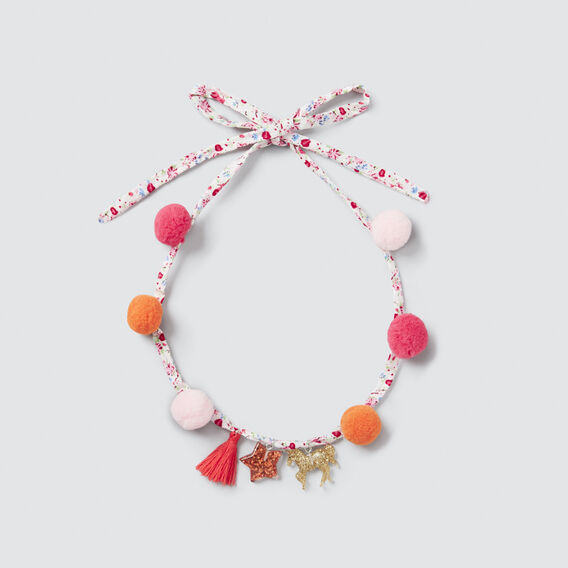 Pom Pom Necklace  MULTI  hi-res