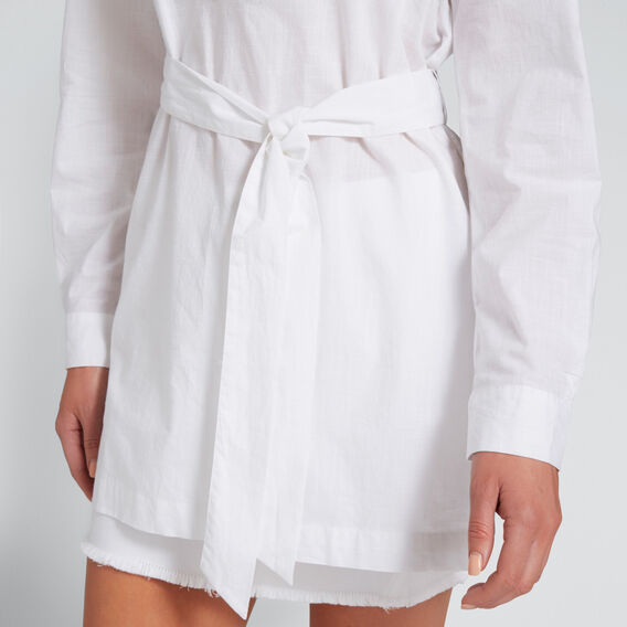 Relaxed Tie Tunic  WHISPER WHITE  hi-res