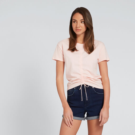 Gathered Centre Tee  PEACH NOUGAT  hi-res