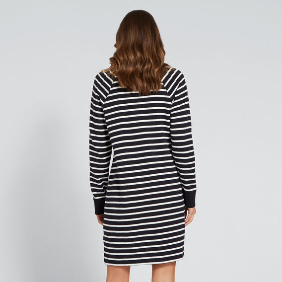 Casual Stripe Dress  NAVY/CANVAS  hi-res