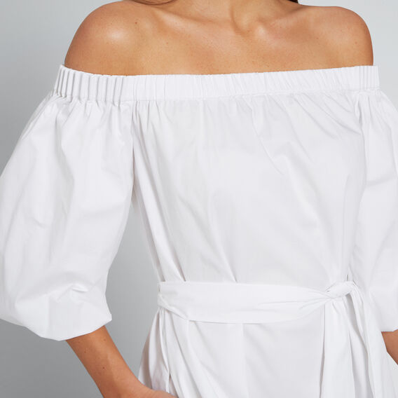 Balloon Sleeve Maxi Dress  WHISPER WHITE  hi-res