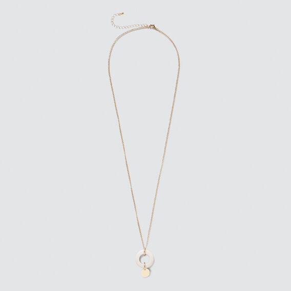 Resin Loop Necklace  GOLD  hi-res