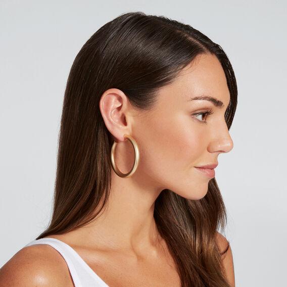 Tube Hoop Earrings  GOLD  hi-res