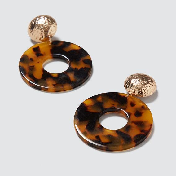 Circle Statement Earrings  GOLD/TORT  hi-res
