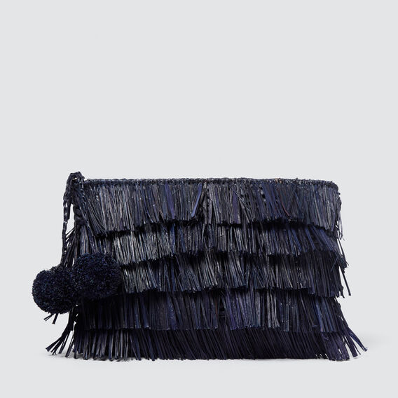 Fringe Clutch  NAVY  hi-res