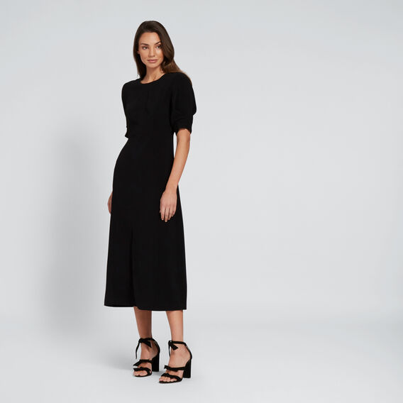 Front Split Dress  BLACK  hi-res