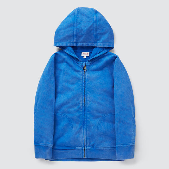 Washed Back Hoodie  BRIGHT COBALT  hi-res