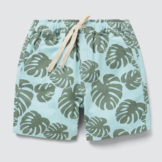 Tropical Leaf Short  AQUA  hi-res