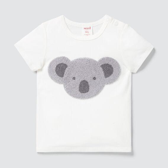 Chenille Koala Tee  CANVAS  hi-res