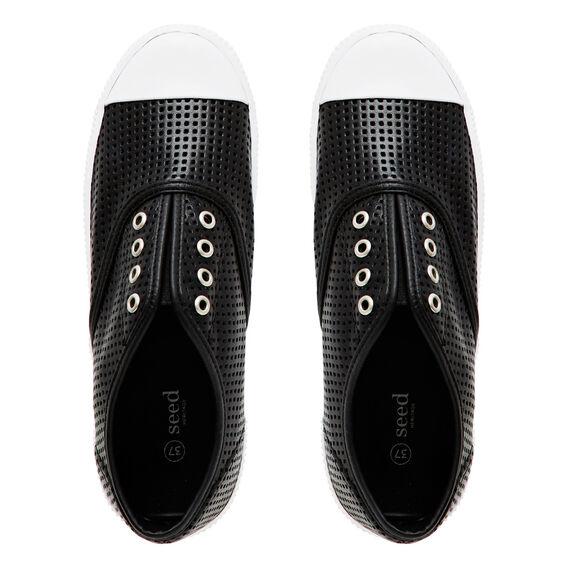 Amber Sneaker  BLACK PERFORATED  hi-res