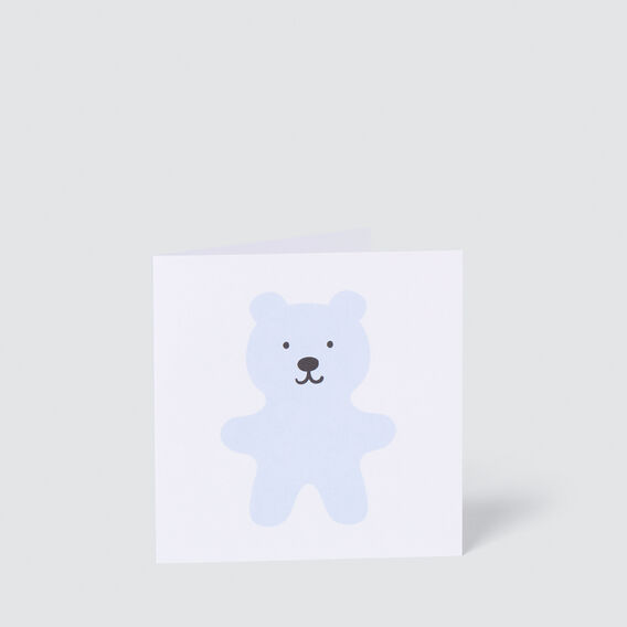 Blue Teddy Card  MULTI  hi-res