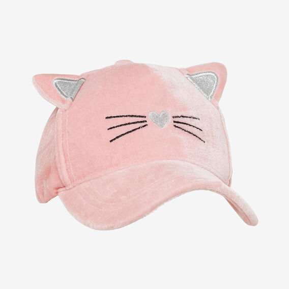 Velvet Cat Cap  PINK  hi-res