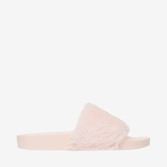 Fluffy Slide  PINK  hi-res