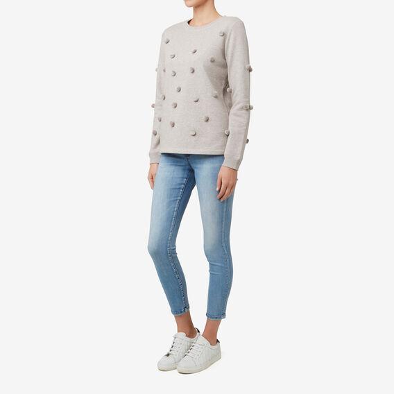 Pom Pom Sweater  TAUPE MARLE  hi-res