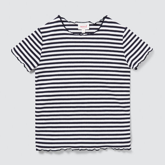 Rib Tee  NAVY/WHITE  hi-res
