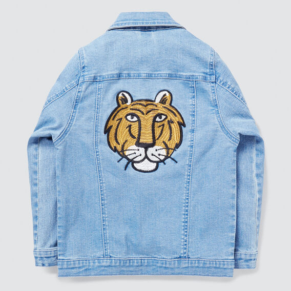 Embroidered Denim Jacket  BRIGHT WASH  hi-res