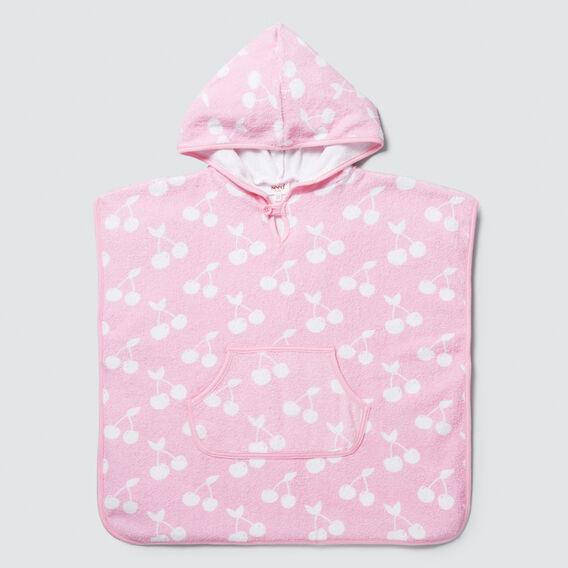 Cherry Print Towel Poncho  CUPCAKE  hi-res