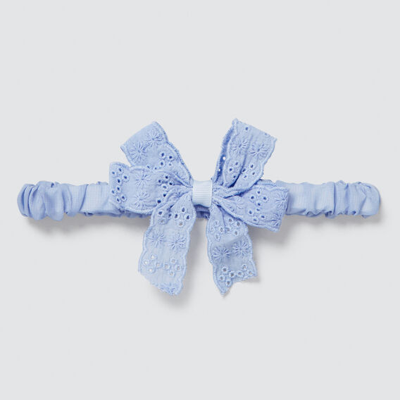 Broderie Bow Headband  CORNFLOWER  hi-res