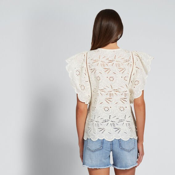 Broderie Blouse  BISQUE  hi-res