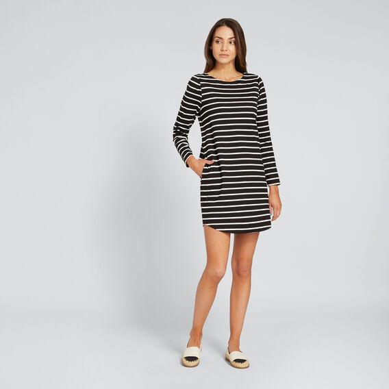 Basic Stripe Dress  BLACK/WHITE STRIPE  hi-res