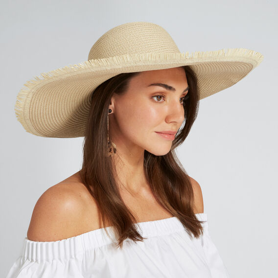 Fringe Edge Sun Hat  NATURAL  hi-res