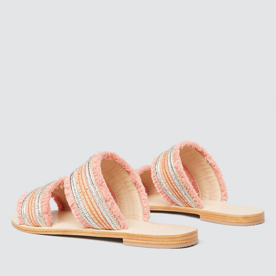 Elsa Embellished Slide  PEACH NOUGAT  hi-res