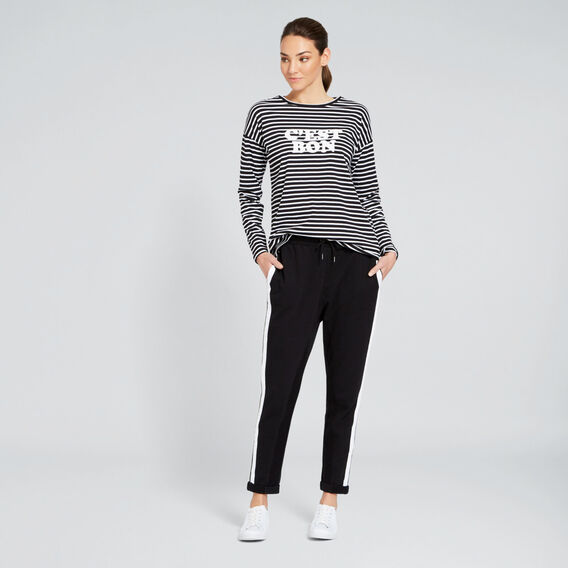 Cest Bon Tee  BLACK/WHITE STRIPE  hi-res