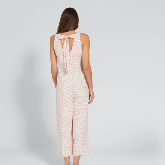 Bow Back Jumpsuit  PEACH NOUGAT SPOT  hi-res
