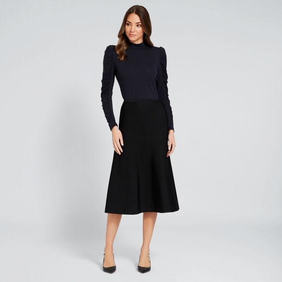 Crepe Knit Skirt  BLACK  hi-res