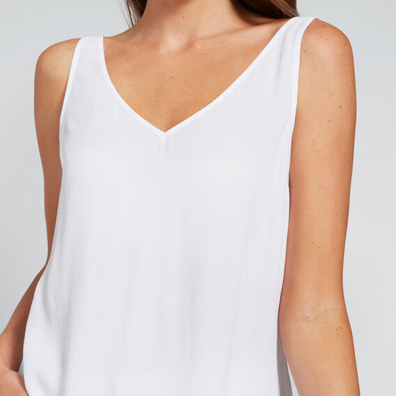 V-Neck Tank  WHISPER WHITE  hi-res