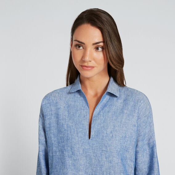 Cross-Dye Linen Comfy Shirt  BLUE CROSS-DYE  hi-res