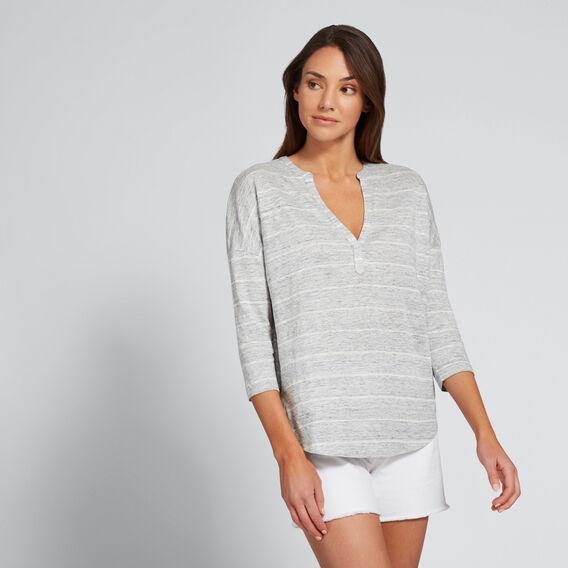 Linen Stripe Tee  GREY MARLE/BISQUE  hi-res