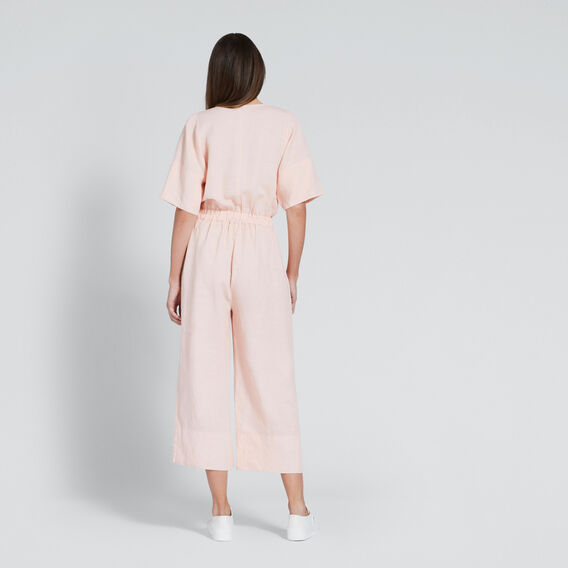 Washed Back Jumpsuit  PEACH NOUGAT  hi-res