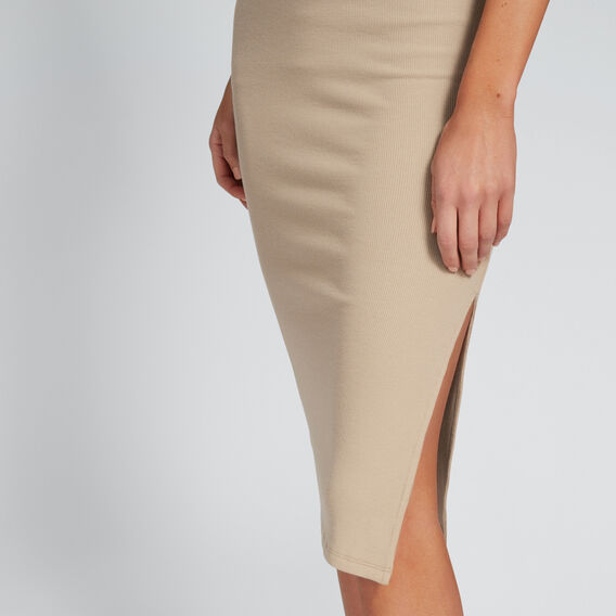 Ribbed Jersey Skirt  TUSCAN BROWN  hi-res