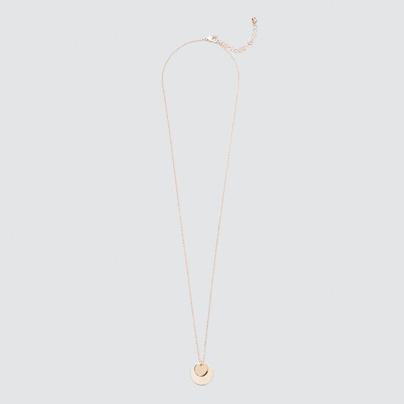 Double Disc Necklace  ROSE GOLD  hi-res
